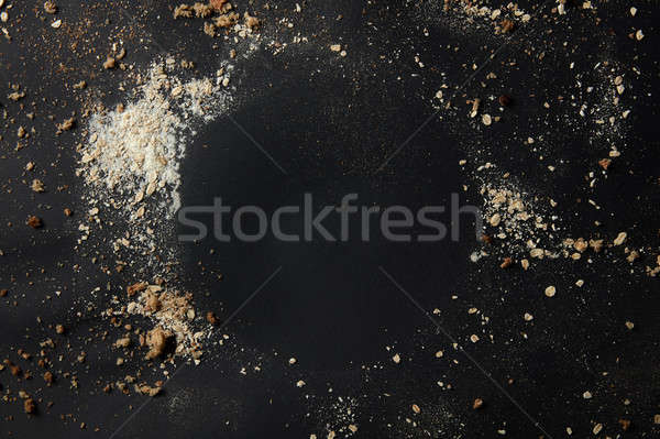Sprinkled flour over background Stock photo © artjazz