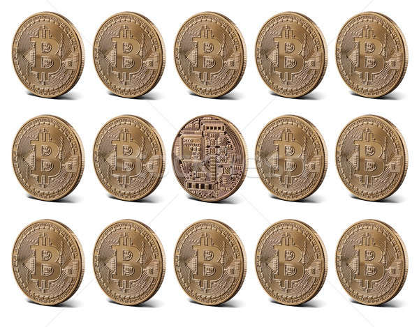 Bitcoin gold coins, seamless pattern Stock photo © artjazz