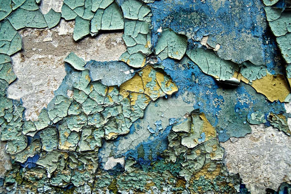 texture of color grunge stucco wall with cracks  Stock photo © artjazz