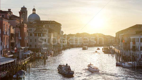 Canal Venecia Italia amanecer cielo agua Foto stock © artjazz