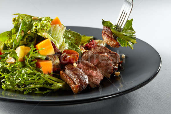 Stok fotoğraf: Salata · kabak · beyaz · ızgara · ördek · taze