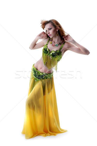 beautiful grl posing in ethnic wear isolated on white Stock photo © artjazz