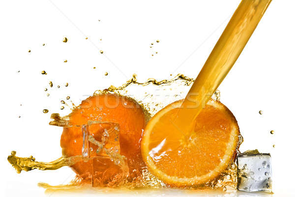 Foto stock: Naranja · aislado · Splash · blanco