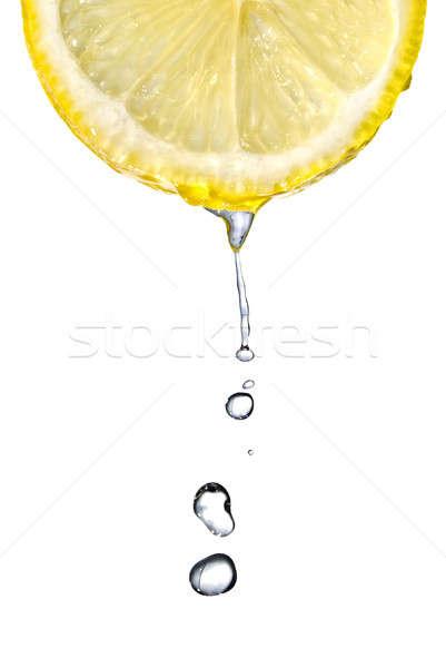 Foto stock: Fresco · gotas · de · água · isolado · branco · água