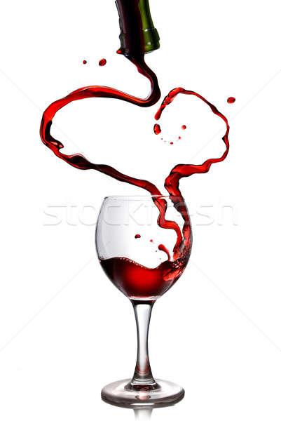 Zdjęcia stock: Wino · czerwone · butelki · serca · miłości