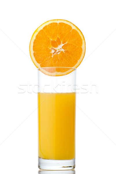 Narancslé narancs izolált fehér étel nyár Stock fotó © artjazz