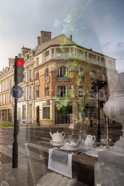 street in reims, france Stock photo © artjazz