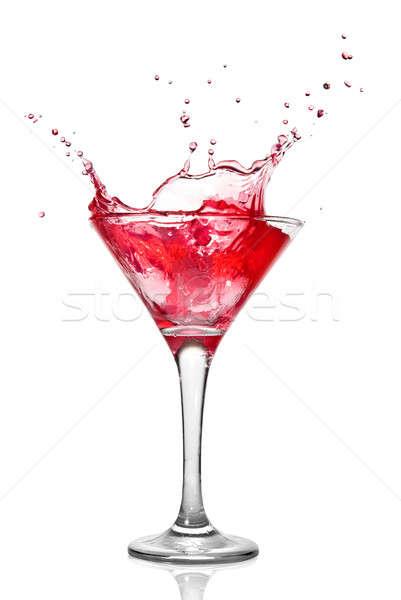 Martini cóctel Splash aislado blanco alimentos Foto stock © artjazz