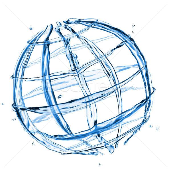 商業照片: 抽象 · 地球 · 水 · 飛濺 · 孤立 · 白