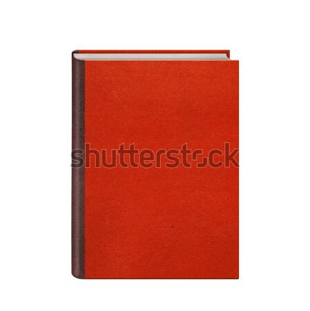 Book with red leather hardcover isolated Stock photo © artjazz
