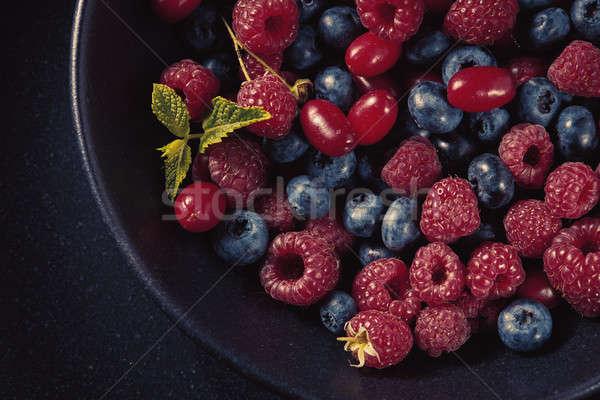 Fresco vegan café da manhã delicioso saudável naturalismo Foto stock © artjazz