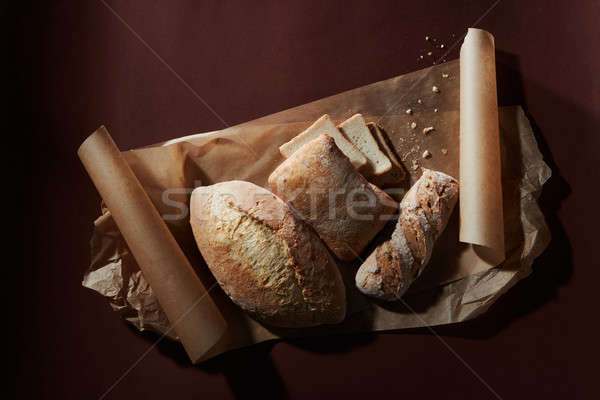Assortment of different types of bread Stock photo © artjazz