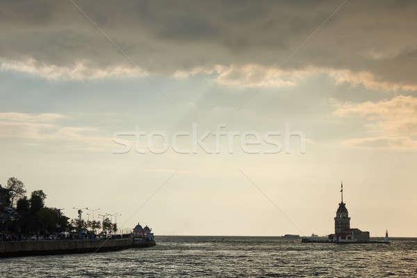 Maiden's Tower in Istanbul, Turkey Stock photo © artjazz