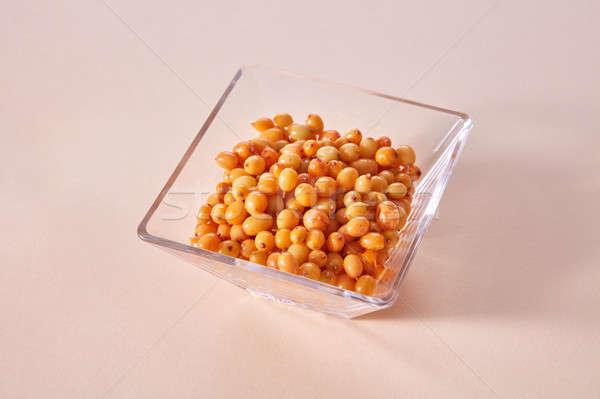 Geel rijp zoete bessen zee glas Stockfoto © artjazz