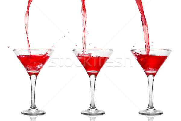Martini coquetel vidro isolado branco Foto stock © artjazz