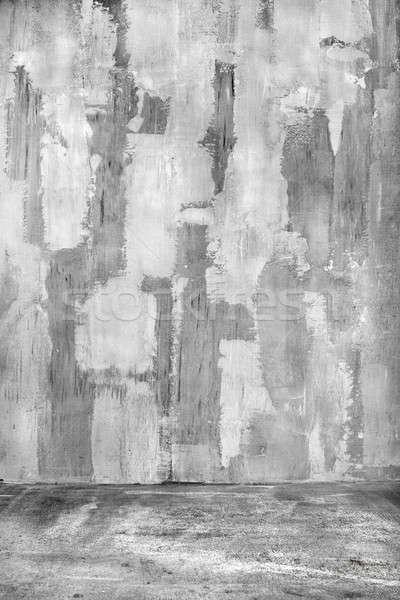 Textura do grunge vazio parede branco abstrato pintar Foto stock © artjazz