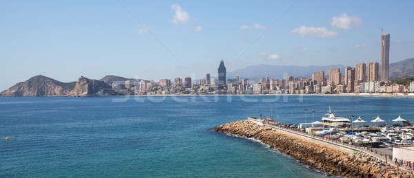 City scape panorama. Benidorm, Spain Stock photo © artjazz