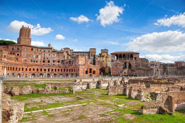 Ruins of Roman Forum in Rome Stock photo © artjazz