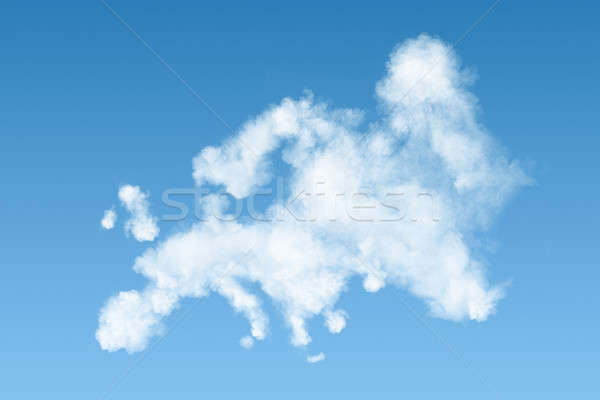 map of Europe made of white clouds on sky Stock photo © artjazz