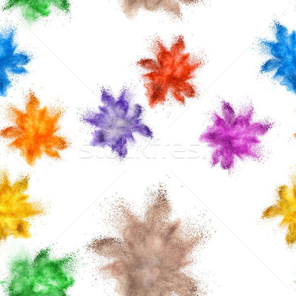 colored powder explosion Stock photo © artjazz