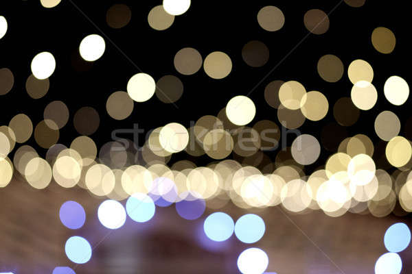 festive bright bokeh lights. background Stock photo © artjazz