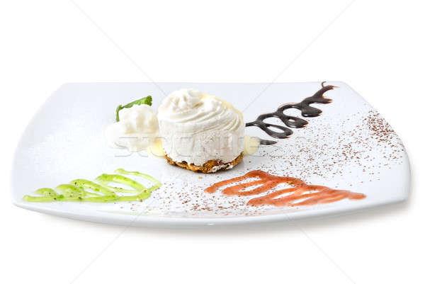cream cheesecake isolated on white Stock photo © artjazz