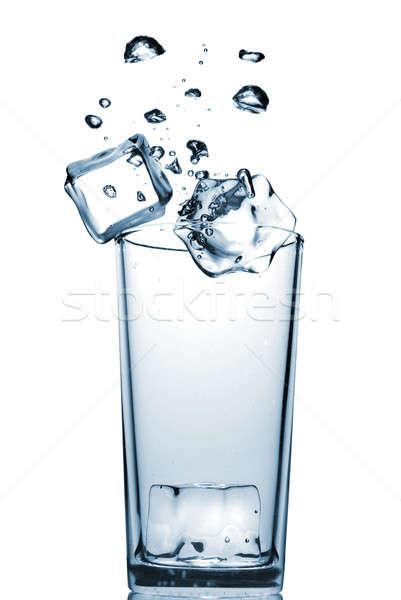 Foto stock: Vidro · bubbles · isolado · branco · água