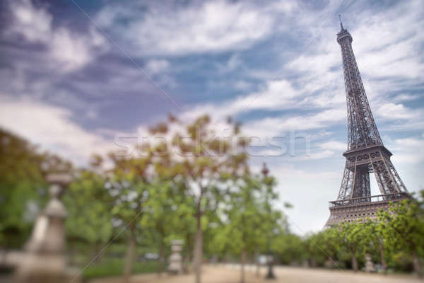 Eiffel tower in Paris, France. Tilt shift image Stock photo © artjazz
