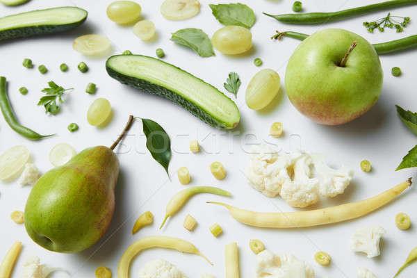 Foto d'archivio: Fresche · verde · verdura · frutti · bianco