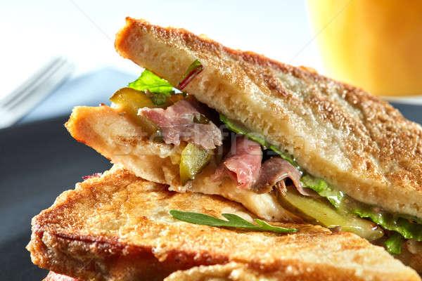 delicious sandwich closeup Stock photo © artjazz