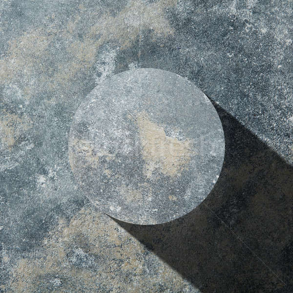 Granit karanlık daire gölge yalıtılmış taş Stok fotoğraf © artjazz