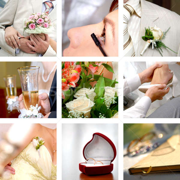 color wedding photos set Stock photo © artjazz
