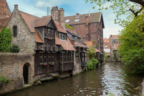 Görmek Belçika eski şehir su sevmek Stok fotoğraf © artjazz