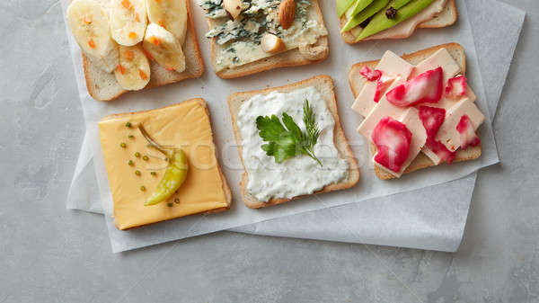Different kinds of sandwiches Stock photo © artjazz