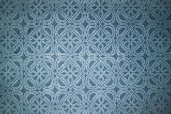 Ceramic blue tile with decorative pattern. Stock photo © artjazz