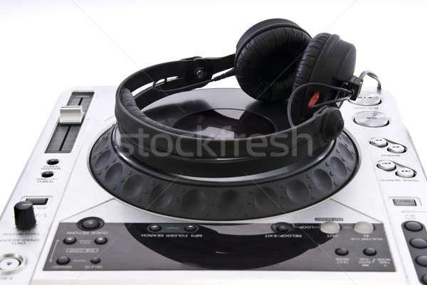 dj mixer with headphones isolated on white Stock photo © artjazz
