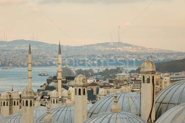View of dome of the mosque, Istanbul, Turkey Stock photo © artjazz