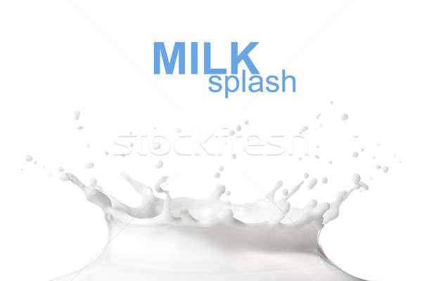 Süt sıçrama yalıtılmış beyaz gıda soyut Stok fotoğraf © artjazz