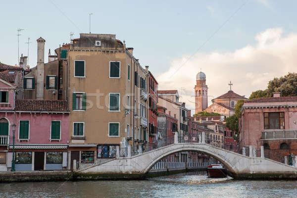 Canal Venecia Foto popular turísticos destino Foto stock © artjazz