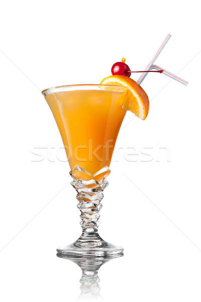yellow cocktail isolated on white Stock photo © artjazz