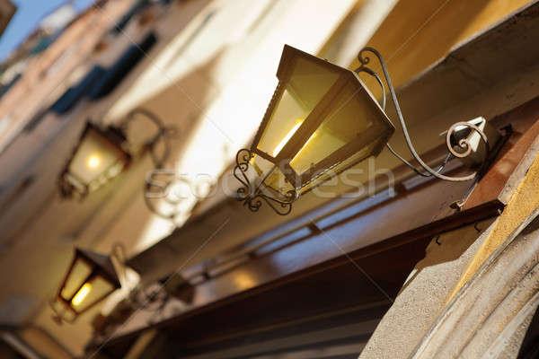 Streetlight in Venice, Italy Stock photo © artjazz