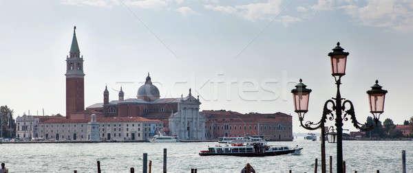 Velence csatorna jelenet Olaszország templom sziget Stock fotó © artjazz