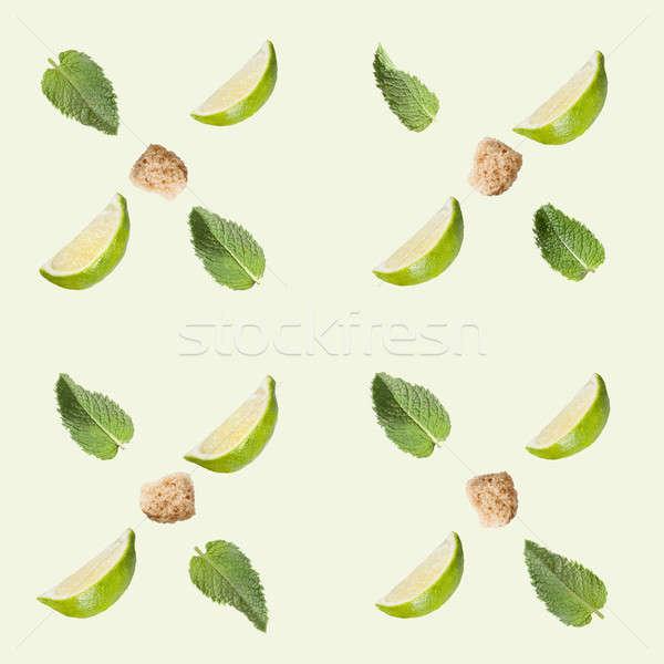 Kalk Zucker mint weiß Essen Stock foto © artjazz