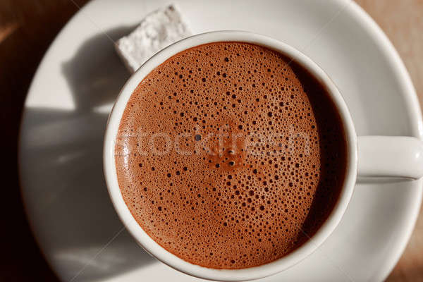 a cup of turkish coffee with foam Stock photo © artjazz