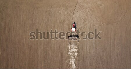 Tracteur travail ferme domaine fertile Photo stock © artjazz