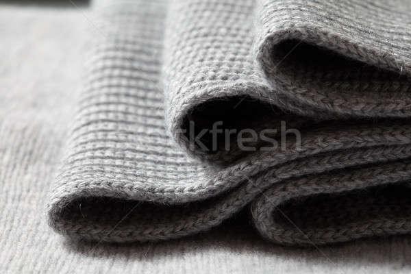 Close up of folded white knitwear Stock photo © artjazz