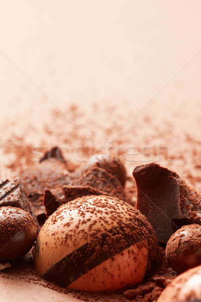 delicious chocolate candy Stock photo © artjazz