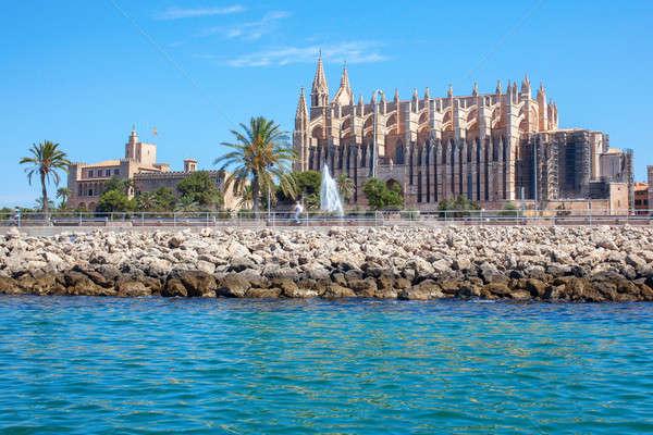 Kathedraal majorca achteraanzicht weg groot gothic Stockfoto © artjazz