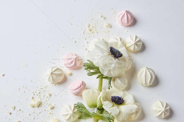 白い花 白 美しい 装飾 ポスト カード ストックフォト © artjazz