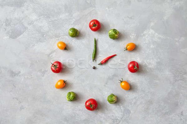 Paradicsomok Brüsszel egészséges étkezés vacsora idő felső Stock fotó © artjazz